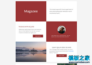 Magazee個人博客單頁bootstrap模板