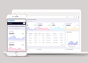Concept  Bootstrap 4 Admin精品后台模板